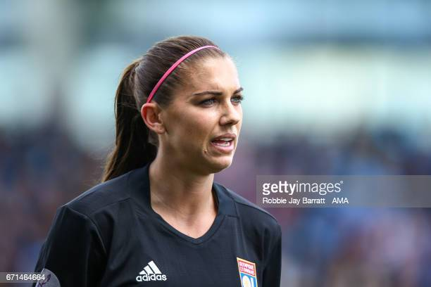 Alex Morgan of Olympique Lyonnais during the UEFA Women's Champions League semi final first leg match between Manchester City Ladies and Lyon on...