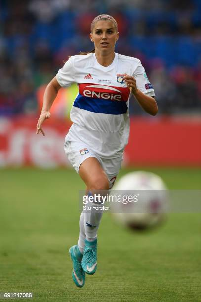 Alex Morgan of Olympique Lyonnais in action during the UEFA Women's Champions League Final between Lyon and Paris Saint Germain at Cardiff City...