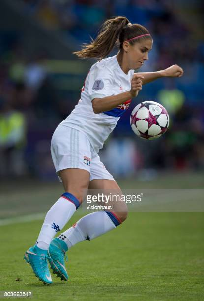 Alex Morgan of Olympique Lyonnais in action during the UEFA Women's Champions League Final between Olympique Lyonnais and Paris St Germain at the...