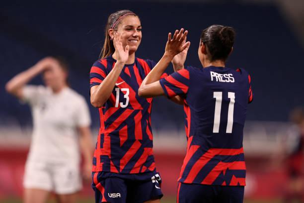 JPN: New Zealand v United States: Women's Football - Olympics: Day 1