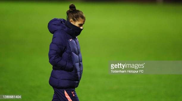 Alex Morgan of Tottenham Hotspur looks on, after her teams draw against Bristol City during the Barclays FA Women's Super League match between...