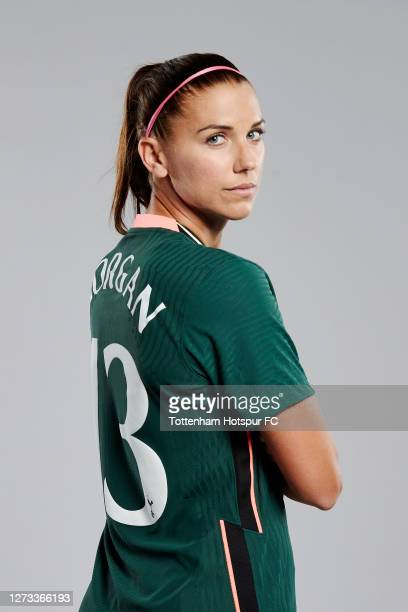 Alex Morgan poses for a portrait during her first day with the Tottenham Hotspur Women on September 18, 2020 in Enfield, England.