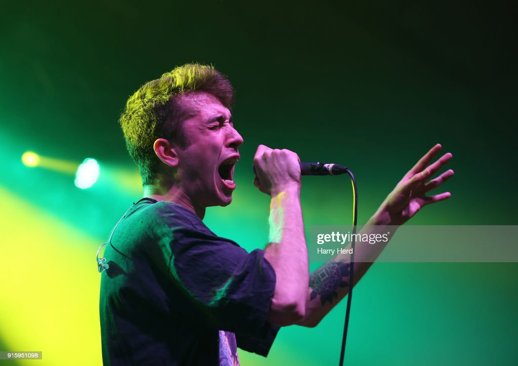 Alex Mountford of Dead! performs at Pyramids Plaza on February 8, 2018 in Portsmouth, England.