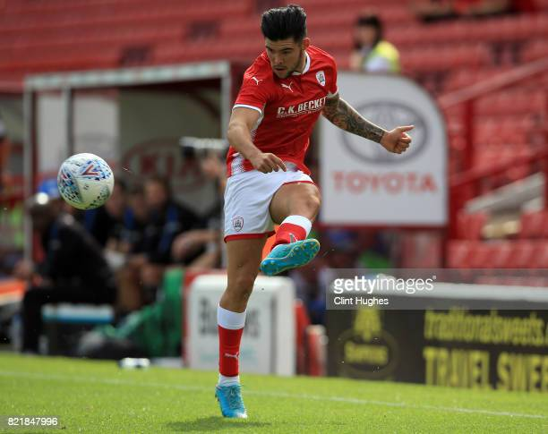 Alex Mowatt of Barnsley during the pre season friendly at Oakwell Stadium between Barnsley and Huddersfield Town on July 22 2017 in Barnsley England