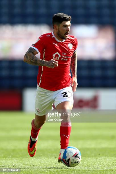 Alex Mowatt of Barnsley during the Sky Bet Championship match between Preston North End and Barnsley at Deepdale on May 01, 2021 in Preston, England....
