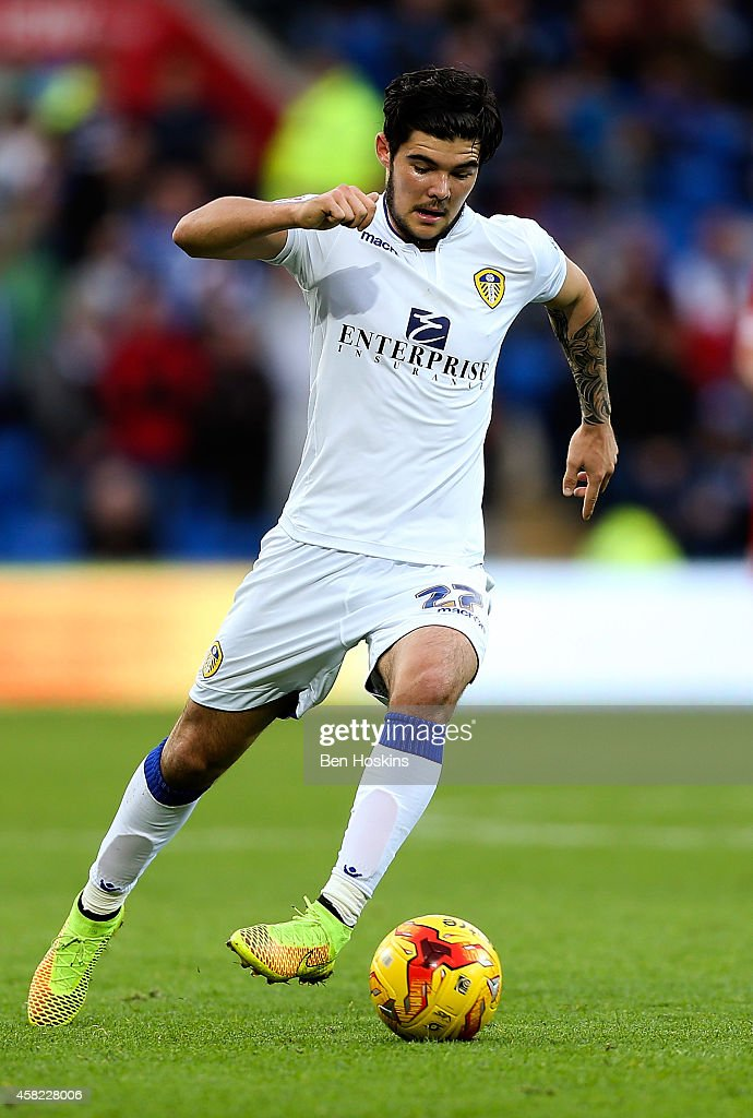 Alex Mowatt of Leeds in action during the Sky Bet Championship match between Cardiff City and Leeds United at Cardiff City Stadium on November 1, 2014 in Cardiff, Wales.