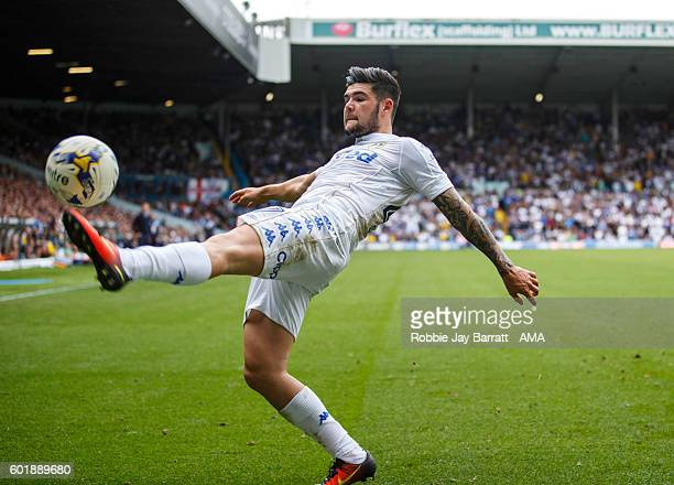 Alex Mowatt of Leeds United during the Sky Bet Championship fixture between Leeds United and Huddersfield Town at Elland Road on September 10 2016 in...