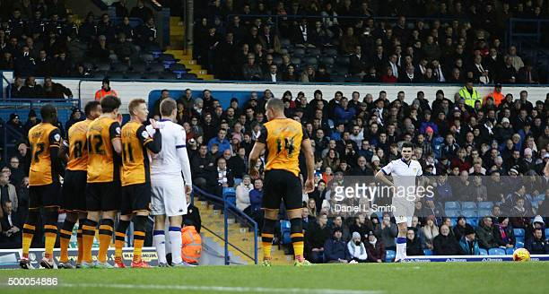 Alex Mowatt of Leeds United FC prepares for a pentaly kick during the Sky Bet Championship League match between Leeds United FC and Hull City FC on...