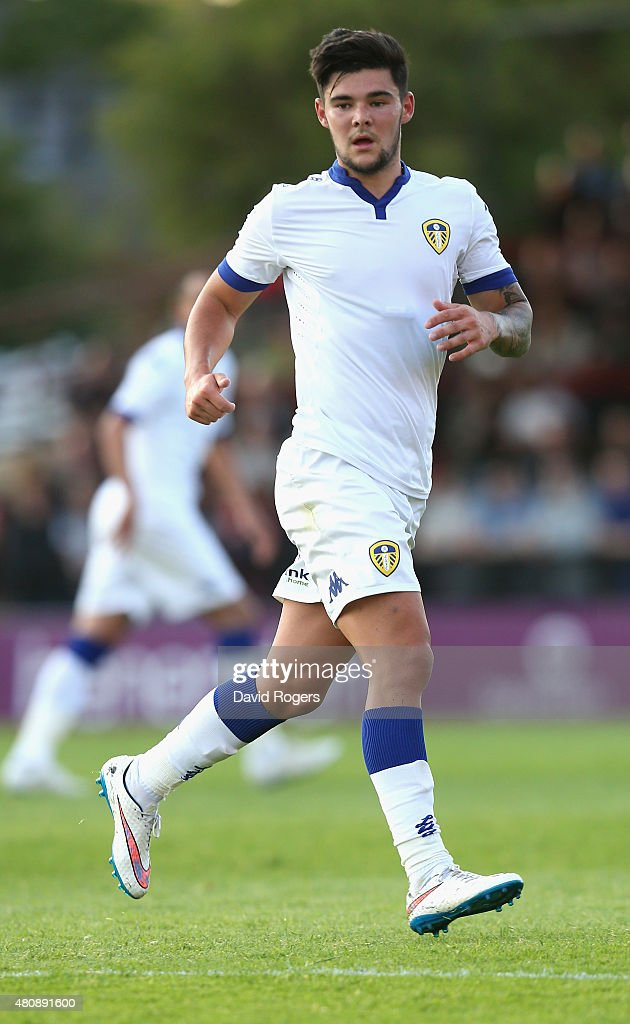 Alex Mowatt of Leeds United looks on during the pre season friendly match between York City and Leeds United at Bootham Crescent on July 15, 2015 in York, England.
