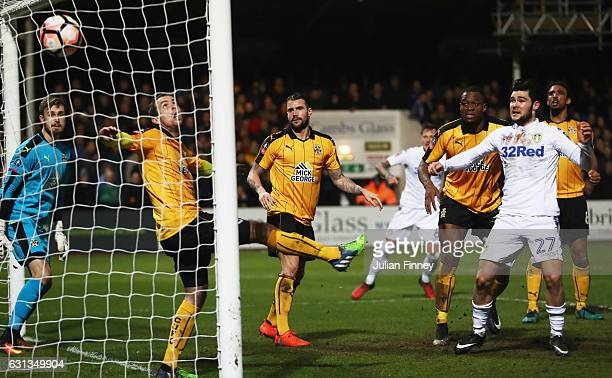Alex Mowatt of Leeds United scores their second goal during the Emirates FA Cup Third Round match between Cambridge United and Leeds United at Cambs...