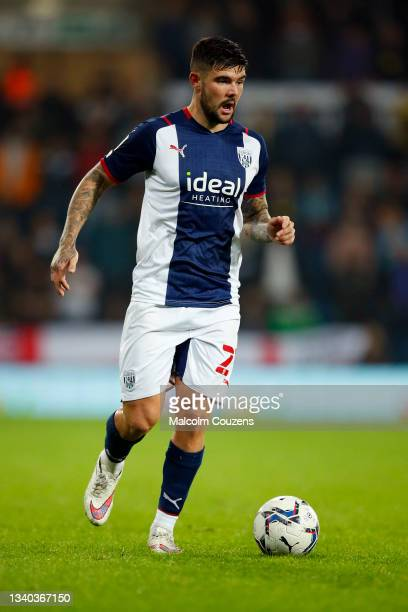 Alex Mowatt of West Bromwich Albion runs with the ball during the Sky Bet Championship match between West Bromwich Albion and Derby County at The...