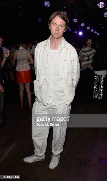 Alex Mullins attends the Charles Jeffrey LOVERBOY x 10 Men Magazine LFWM party celebrating the 5th anniversary of London Fashion Week Men's at The...