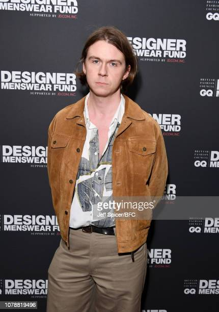 Alex Mullins attends the GQ Drinks during London Fashion Week Men's January 2019 at Annabel's on January 7 2019 in London Englan