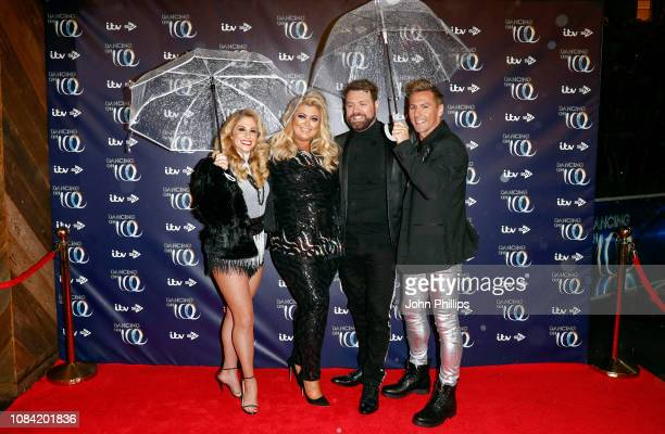 Alex Murphy Gemma Collins Brian McFadden and Matt Evers during a photocall for the new series of Dancing On Ice at the Natural History Museum Ice...