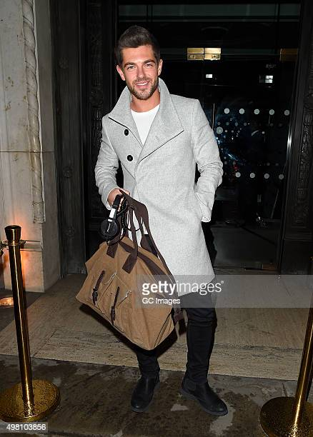 Alex Mytton leaves the Teens Unite Fighting Cancer gala dinner on November 20 2015 in London England