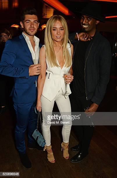 Alex Mytton Nicola Hughes and Mason Smillie attend Fashion Targets Breast Cancer's 20th Anniversary Party at 100 Wardour St on April 12 2016 in...