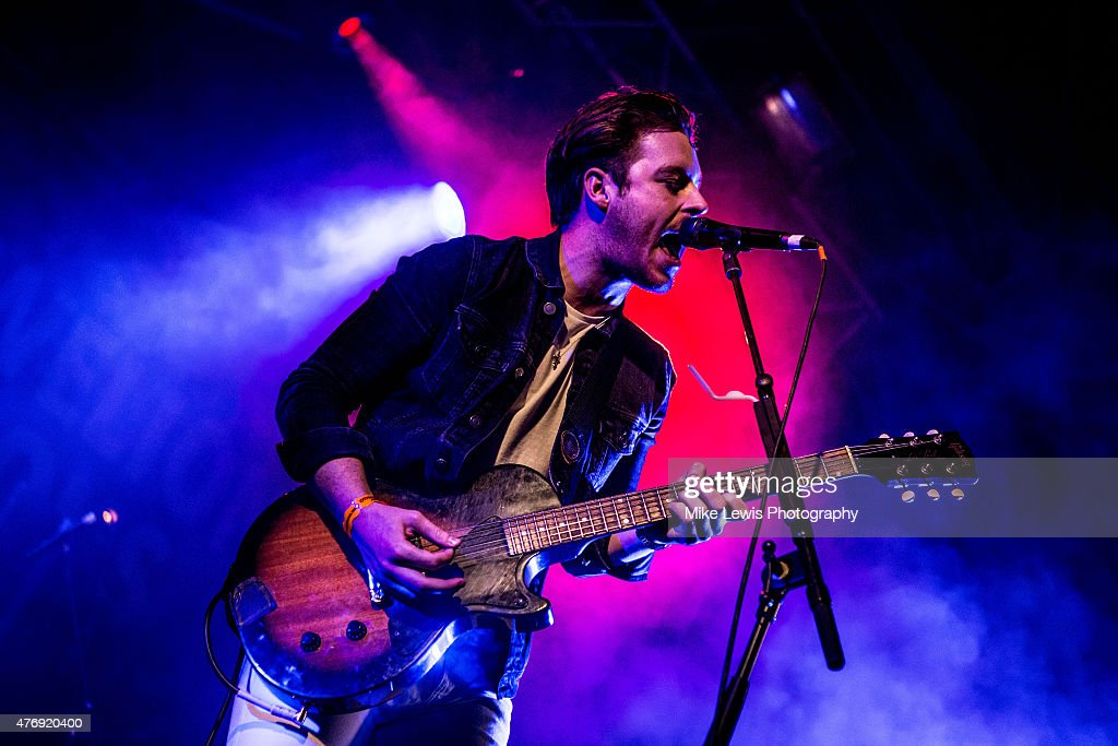 Alex Nash of The Hearts performs on stage at Bute Park on June 12, 2015 in Cardiff, United Kingdom
