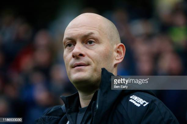 Alex Neil Manager / Head Coachof Preston North End during the Sky Bet Championship match between Preston North End and Huddersfield Town at Deepdale...
