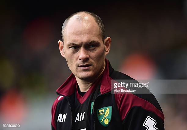 Alex Neil manager of Norwich City looks on during the Barclays Premier League match between Tottenham Hotspur and Norwich City at White Hart Lane on...