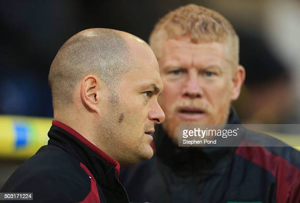 Alex Neil Manager of Norwich City looks on prior to the Barclays Premier League match between Norwich City and Southampton at Carrow Road on January...