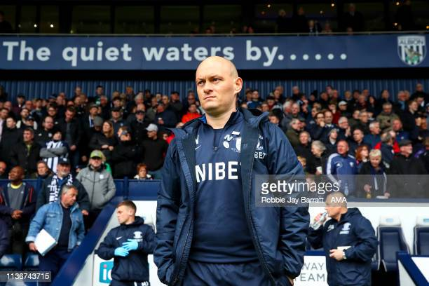 Alex Neil the head coach / manager of Preston North End during the Sky Bet Championship match between West Bromwich Albion and Preston North End at...