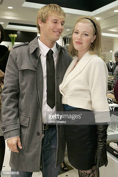 Alex Nesic and Melissa Sagemiller during Club Monaco Hosts Cashmere and Cocktails at Club Monaco in Beverly Hills CA United States