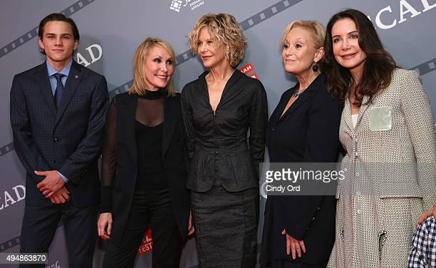 Alex Neustaedter Janet Brenner Meg Ryan Robin Skye and Lois Robbins attend Meg Ryan's Lifetime Award Presentation and Ithaca screening during 18th...