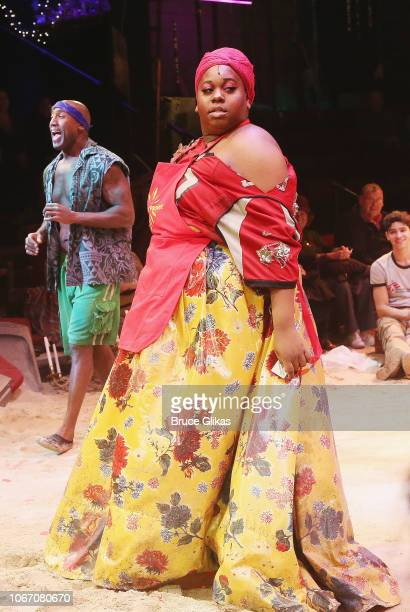 Alex Newell as Asaka in the Tony Winning hit musical Once on This Island on Broadway at The Circle in the Square Theatre on November 30 2018 in New...