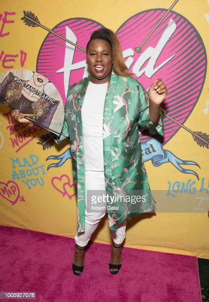 Alex Newell attends the opening night of 'Head Over Heels' on Broadway at Hudson Theatre on July 26 2018 in New York City