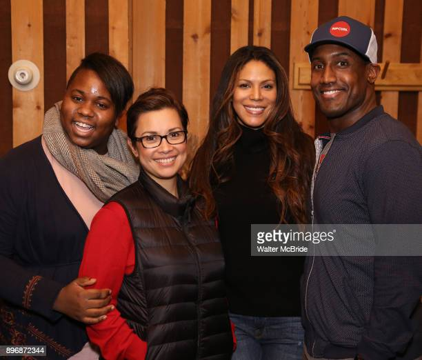 Alex Newell Lea Salonga Merle Dandridge and Quentin Earl Darrington from cast of the Broadway revival of 'Once on This Island' in the recording...