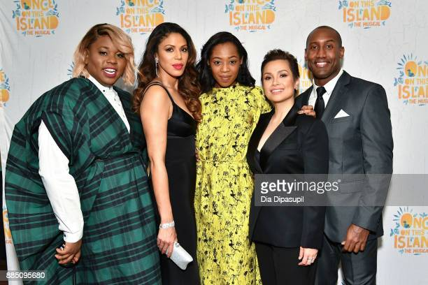 Alex Newell Merle Dandridge Hailey Kilgore Lea Salonga and Quentin Earl Darrington attend the 'Once On This Island' Broadway Opening Night after...