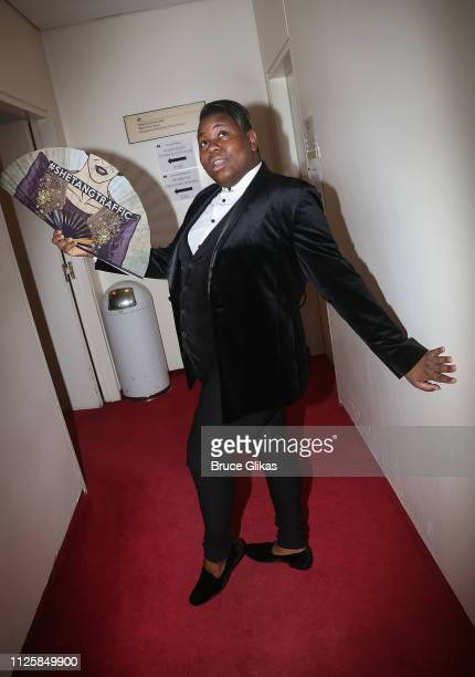Alex Newell poses at The Manhattan Concert Productions 'The Scartlet Pimpernel'AfterParty at Planet Hollywood Times Square on February 18 2019 in New...