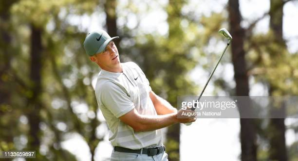 Alex Noren of Sweden during the second round of the Masters at Augusta National Golf Club Friday April 6 2018