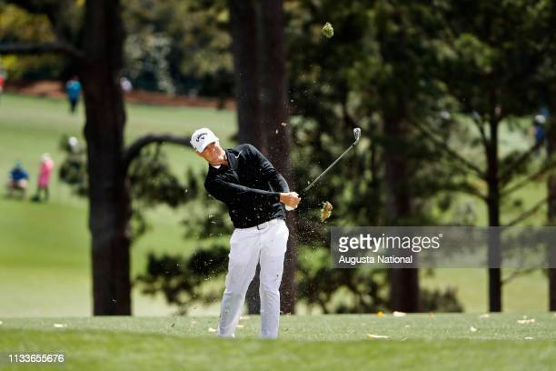 Alex Noren of Sweden hits from the No 1 fairway during the first round of the Masters at Augusta National Golf Club Thursday April 6 2017