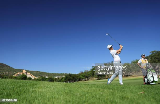 Alex Noren of Sweden in action during the pro am ahead of the Nedbank Golf Challenge at Gary Player CC on November 8 2017 in Sun City South Africa
