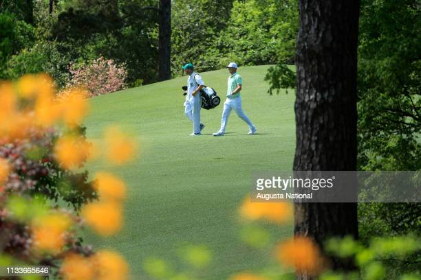 Alex Noren of Sweden on No 2 during Practice Round 2 for the Masters at Augusta National Golf Club Tuesday April 3 2018