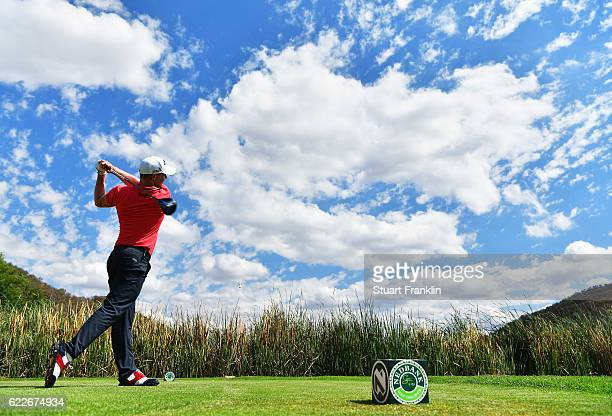 Alex Noren of Sweden plays a shot during the third round of The Nedbank Golf Challenge at Gary Player CC on November 12 2016 in Sun City South Africa