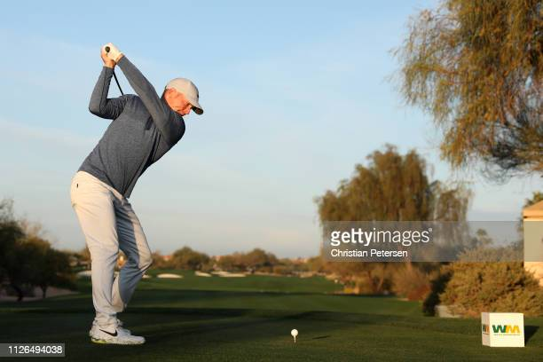 Alex Noren of Sweden plays his shot from the third tee during the first round of the Waste Management Phoenix Open at TPC Scottsdale on January 31...