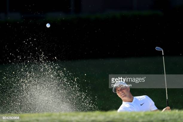 Alex Noren of Sweden plays his third shot on the par 4, 12th hole during the final round of the 2018 Honda Classic on The Champions Course at PGA...