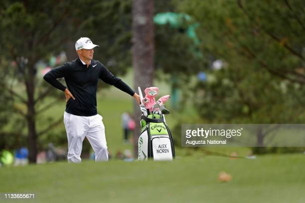 Alex Noren of Sweden waits on the No 1 fairway during the first round of the Masters at Augusta National Golf Club Thursday April 6 2017