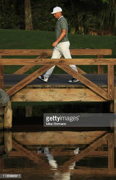Alex Noren of Sweden walks to the fourth green during the second round of The PLAYERS Championship on The Stadium Course at TPC Sawgrass on March 15...