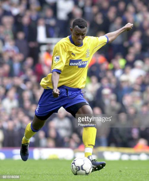 Alex Nyarko of Everton in action during the FA Carling Premiership game between West Ham United and Everton at Upton Park in London on March 31 2001