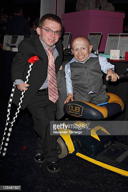 Alex O'Brien and Verne Troyer attend the Fourteenth Annual Best Buddies Miami Gala Celebrating Fifty Nations on November 19 2010 in Miami Florida