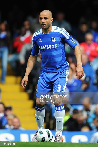 Alex of Chelsea in action during the Barclays Premier League match between Chelsea and Newcastle United at Stamford Bridge on May 15 2011 in London...