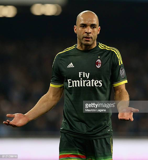 Alex of Milan during the Serie A between SSC Napoli and AC Milan at Stadio San Paolo on February 22 2016 in Naples Italy