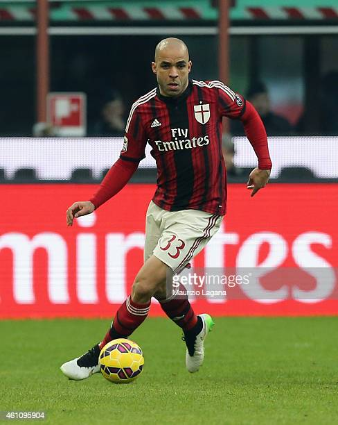Alex of Milan during the Serie A match between AC Milan and US Sassuolo Calcio at Stadio Giuseppe Meazza on January 6 2015 in Milan Italy