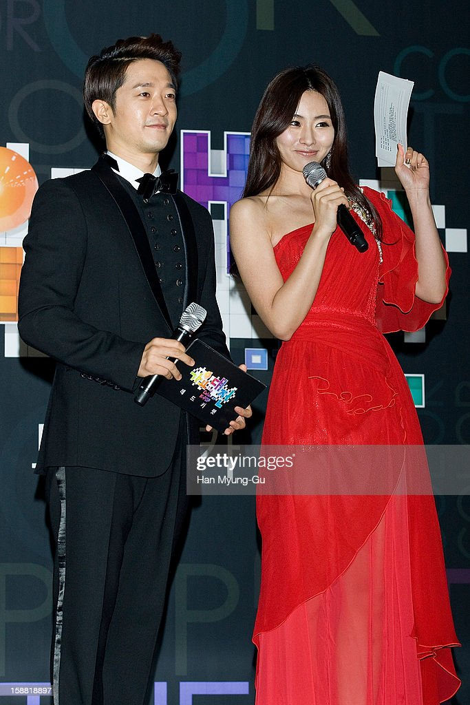 Alex (L) of South Korean band Clazziquai attends at the 2012 SBS Korea Pop Music Festival named 'The Color Of K-Pop' at Korea University on December 29, 2012 in Seoul, South Korea.