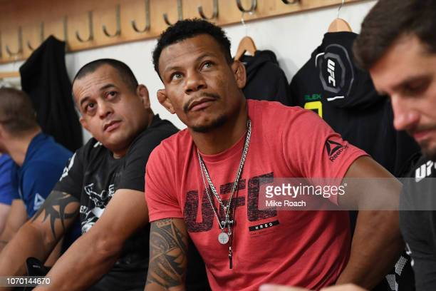Alex Oliveira of Brazil waits backstage during the UFC 231 event at Scotiabank Arena on December 8 2018 in Toronto Canada