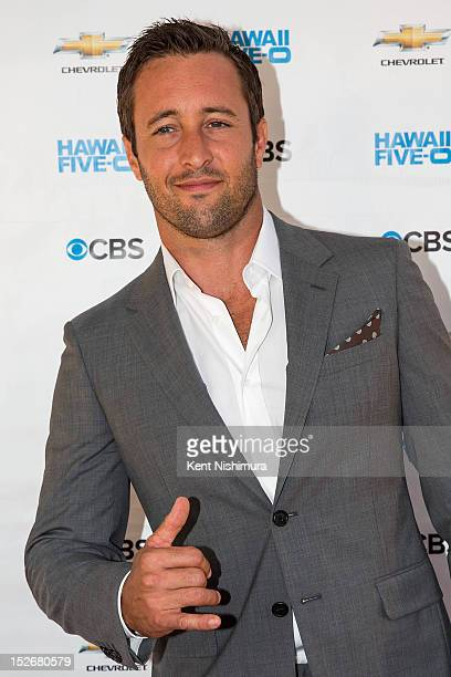 Alex O'Loughlin arrives for the premiere of CBS' Hawaii FiveO Season 3 at Sunset on the Beach on Waikiki Beach on September 23 2012 in Waikiki Hawaii