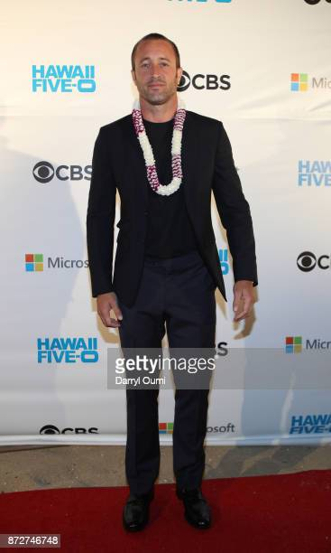 Alex O'Loughlin attends the Sunset on the Beach event celebrating season 8 of Hawaii Five0 at Queen's Surf Beach on November 10 2017 in Waikiki Hawaii